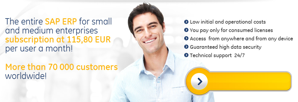 The entire SAP ERP for small and medium enterprises subscription at 99 EUR per user a month!